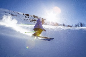 Skier Wearing UV Protection