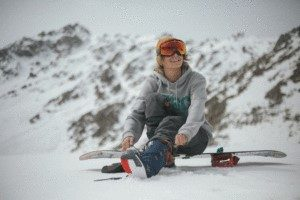 Snowboarder Wearing UV Protection
